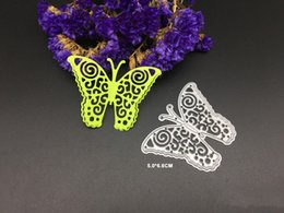 Wholesale Butterfly Die Cuts - Flying 3D butterfly metal cutting dies stencils for DIY Scrapbook photo album embossing envelope decorative craftsl cutting dies
