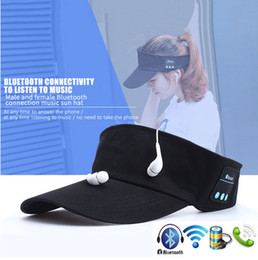 Wholesale Palms Sun - 2017 Latest Summer Bluetooth Music Hat Smart Sun Hat Outdoor Sports Stereo Music Headset with Speaker Bluetooth Cap Hat with retail box