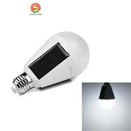 Wholesale Rechargeable Intelligent - CNSUNWAY Lighting E27 7W Solar Lamp 85-265V Energy Saving Light LED Intelligent Lamp Rechargeable Solar Emergency Bulb Daylight