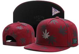 Wholesale Orange Left - 2017 new 3D leave fashion wine red snapback baseball hats caps for men women brand cap sports hip hop flat sun hat bone gorras Casquette