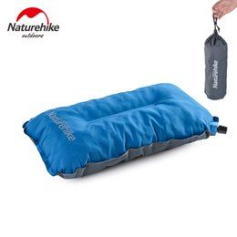Wholesale Compact Travel Pillow - Wholesale- NatureHike Automatic Inflatable Air Pillow Self Inflating Travel Camping Pillow Ultralight Compact Portable Camp Pillows