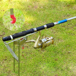 Wholesale Automatic Pole Holder - HOT SALE Automatic Adjustable Fishing Rod Pole Bracket Practical Stainless Steel Fishing Tool Stand Holder Double Spring
