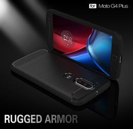 Wholesale Carbon Fibre Brush - Case for Motorola Moto G4 Plus Mobile Phone Bag Carbon Fibre Brushed TPU Smart Phone Cases for Moto G 4 Plus Cover