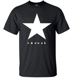 Wholesale Posters Hip Hop - Men's T-Shirts summer Fashion David Bowie heroes black star posters streetwear hip hop t shirts Cotton men T-shirt Tops Tees hipster men
