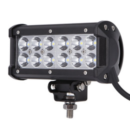 """Wholesale Bar Mount Bracket - ultra Bright 7"""" 36W Spot Flood Combo Led Light Bar Offroad Driving Light with Mounting Bracket Waterproof for SUV Motorcycle Tractor Boat"""