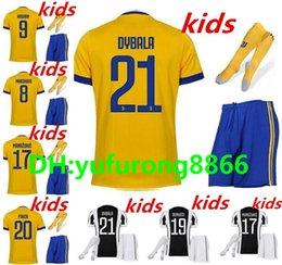 Wholesale Boys Football Jersey Xl - 17 18 home Soccer jersey 2017 2018 kids kit Bernardeschi DYBALA HIGUAIN Away third 3RD Football shirt D. Costa Pjanic Chiellini BOYS