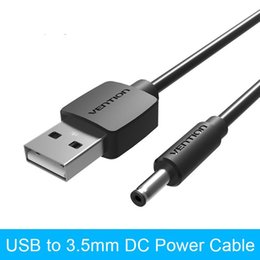 Wholesale Dc Power Barrel Connector - Vention USB 2.0 Male To 3.5mm DC Power Plug Portable Speaker USB Charging Cable Barrel Connector Cable Cell Phone Charger Cables