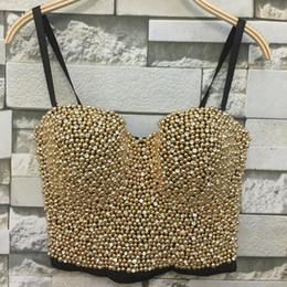 1c08699cb8 Atacado-de alta qualidade feitos à mão pérolas jóias de diamante Bralet Bustier  Bra das mulheres colhidas Top Vest Plus Size w1165 hand bra   venda