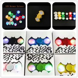 Wholesale Led Flash For Adults - LED Batman Fidget Spinner Controllable LED Metallic hand Spinner Optional Colorful EDC Toys For Adult Kids Free DHL