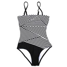 Wholesale Brazilian Bikini Set Xs - one piece women swimsuit 2017 bikini brand stripe women swimwear swimsuit brazilian push up monkini set