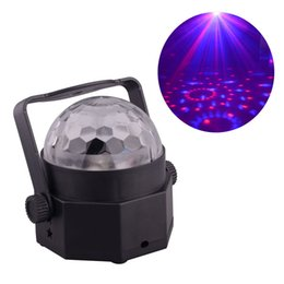 Wholesale Car Led Lights Wholesale Usa - Mini Led Crystal Stage Lights RGB Multi Colored Disco Ball lighting Equipment for Family Birthday Party Car Decoration