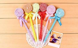 Wholesale Free Advertising Pens - Cheap Price-48pcs lot Cute Lollipop Ballpoint Pen Advertising office Pen Promotional  Gift Ballpoint Pen free shipping