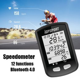 Wholesale Bike Computers Wireless - New Arrival iGPSPORT iGS10 GPS Bike Computer MTB Waterproof ANT Wireless Speedometer Vdo Mileometer Cycling Bicycle Computer With Bluetooth