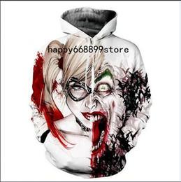 Wholesale Hoodies Joker - New fashion Cool sweatshirt Hoodies Men women 3D print Suicide Squad Harley Quinn Joker fashion hot Style Streetwear Long sleeve clothes M06