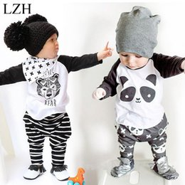pants t shirt boy child Promo Codes - Wholesale- Newborn Baby Boys Clothes 2017 New Spring Kids Cotton T-shirt+Pants Outfit Girls Sport Suit Infant Clothing Set Children Clothes