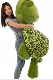 Wholesale Stuffed Green Turtle - 59''   150cm Lovely Stuffed Soft Giant Tortoise Turtle Toy, Christmas Gift and Decoration Toy, Free Shipping FT50059