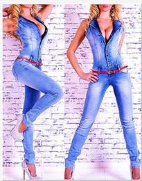7ab574ddb70 sexy jeans overalls Rabatt Großhandels- 2017 Frauen Catsuit Overalls Jeans  Hose Full Lenth Hosen Damen