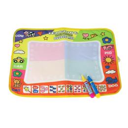 Wholesale Aqua Doodle Drawing Mat - Aqua Doodle Children Drawing Toys Mat Magic Pen Educational Toy 1 Mat+ 2 Wate