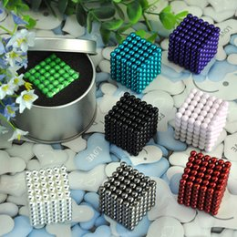 Wholesale Neodymium Magnetic Magic Balls Puzzle - 216PCS Neodymium Magnetic Balls Spheres Beads Magic Cube Magnets Puzzle Toys High quality Anti Stress Cube Kids' Gift with Metal Box