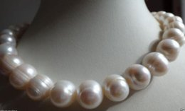 """Wholesale South Sea Pearls Baroque - HUGE Natural 13-15MM SOUTH SEA GENUINE WHITE BAROQUE PEARL NECKLACE 18"""""""