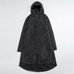 Wholesale trench coat hip hop - Wholesale- Plus Size High Quality Mens Black Trench Coats Male Hip Hop Irregular Windproof Waterproof Long Windbreaker Jackets 4XL 5XL