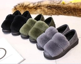 Wholesale Platform School Shoes - winter waterproof snow boots women platform warm plush ankle boots cony hair Slipper pu leather flat heel girls cotton school shoes