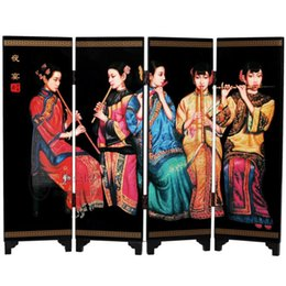Wholesale Pr Wedding - Wooden screen Home Furnishing ornaments holiday business PR travel overseas cultural gifts Chen Yifei painting banquet