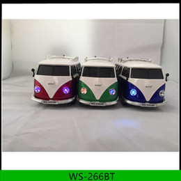 Wholesale Bus Player - Mini wireless bluetooth bus speaker ws-266bt with usb tf fm for kids gift mini car speaker