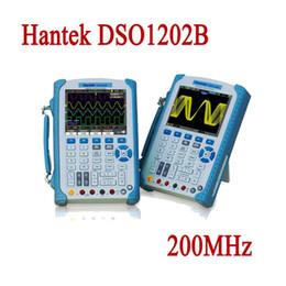 Wholesale Digital Storage Oscilloscope Multimeter - Hantek DSO1202B Digital Multimeter Oscilloscope USB PC Storage Handheld Portable Osciloscopio 200MHz 2 Channel 1GS s Logic Analyzer
