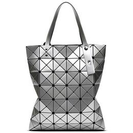 2019 diviso grande sacchetto Baid Bao Baid Bao Borsa a tracolla con manico a forma di diamante con motivo geometrico diviso grande sacchetto economici