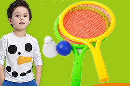 Wholesale Children S Sport Toys Wholesale - Selling children 's plastic tennis racket sets parent - child sports badminton rackets baby ball toys wholesale