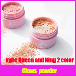 Wholesale Natural Collection Foundation - Newest Kylie Jenner The 20th Birthday Collection Queen & King 2 versions Ultra Glow Loose Powder foundation highlighter free shipping