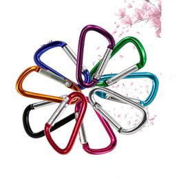 Wholesale Camping Key - Carabiner Ring Keyrings Key Chain Outdoor Sports Camp Snap Clip Hook Keychains Hiking Aluminum Metal Stainless Steel Hiking Camping Clip On