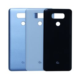 Wholesale G6 Battery - For LG G6 H870 H871 H872 H873 LS993 Back Battery Cover Door Rear Panel Glass housing With Adhesive Sticker Replacement Parts Free DHL