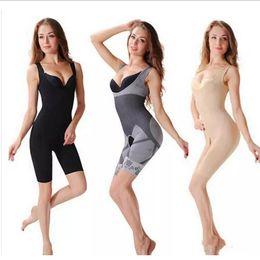 Wholesale Bamboo Shapewear - Top Quality 3 colors Bamboo Charcoal Sculpting Underwear Women's body shaper Slim Corset Slimming Suits Bodysuit Shapewear 1000Pcs