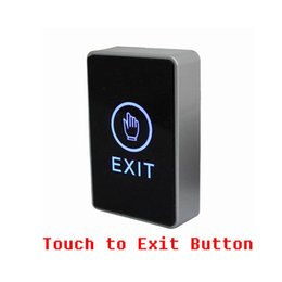 Wholesale Infrared Exit Switch - Wholesale- Free Shipping Infrared Sensor Touch screen Exit button Door Release exit switch with NO NC COM interface