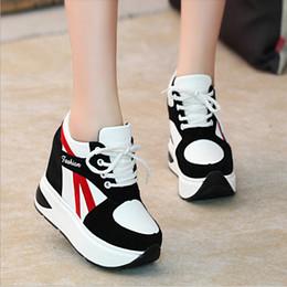 Wholesale High Heel Platform Sneakers - Women High Heels Autumn Fashion Casual Wedge Shoes Women Height Increasing Platform Shoes Zapatillas Deportivas Mujer sports shoes sneakers