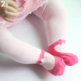 Wholesale Socks Shoe For Kids Girl - Wholesale- Hot item! Breathable Baby Girl Kids Toddler Lovely Dance Shoes Tights for 0~36 Months