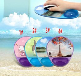 Wholesale Silicone Wrist Rest Mouse Pad - Silicone Mouse Pad, Soft Gel Wrist Rest and Support Wrist Rest with Microban Protection Mouse Pad,Cute and Cool Photo Gel for PC, imac Acces