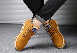 Wholesale Waterproof Snow Boots Wholesale - The new winter men's casual shoes and cashmere high warm, waterproof, non slip strap head warm thickening snow boots