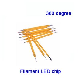 Wholesale Current Degree - Wholesale- 50X 360 degree LED filament light source high voltage 75V low current 10mA CRI >80 for DIY LED lighting project free shipping