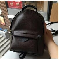 Wholesale Girl Small Mini Leather Bag - Hight quality Women's Palm Springs Backpack Mini genuine leather children backpacks women printing leather backpack M41560