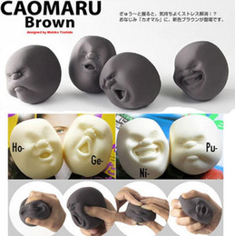 Wholesale Rubber Face Doll - CAOMARU Human Face Emotion Vent Ball Toy Resin Relax Doll Adult Stress Relieve Novelty Toy Anti-stress Ball Toy Gift Creative toys