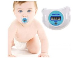 Wholesale Baby Monitors Led - Infants LED Pacifier Thermometer Baby Health Safety Temperature Monitor Kids