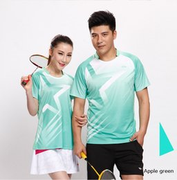 Wholesale Table Tennis Shirts Women - New Green Star Sportswear Quick Dry Breathable Badminton Shirt Jerseys Women Men Table Tennis Shirt Clothes Team Training T Shirts
