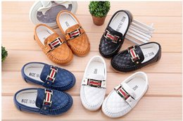 Wholesale Kids Loafers Shoes - New Boy Girl Children's Slip-on Loafers Oxford Non-slip Flat Shoes Kids Fashion Sneaker Baby Mocassins Boys Girls Running Shoes