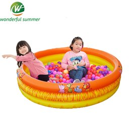 Wholesale Infant Inflatable Pool - Wholesale- 142*30cm Big SizeTrinuclear Inflatable Ocean Ball Pool Baby Swimming Pool Piscina Portable Outdoor Children Basin Bathtub Infant