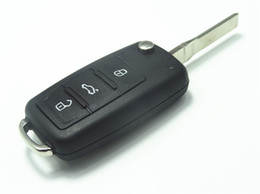 Wholesale Skoda Remote - Flip Folding Key Shell for VW VOLKSWAGEN SEAT SKODA Remote Key Case Fob NEW 3 BN