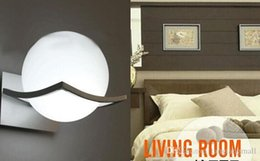 Wholesale Unique Wall Lamps - Creative spherical lamp unique and novelty led wall lamps glass ball wall lights for home E27 AC90V-260V free shipping