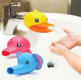 Wholesale Hand Wash Faucet - Cute Cartoon Dolphin Child Use Faucet Extender Lovely Elephant Guiding Gutter For Kid Washing Hands Kawaii Bibcock Tap Stretcher